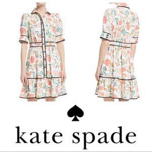 Kate Spade Blossom Fluid Short Sleeve Shirtdress 8